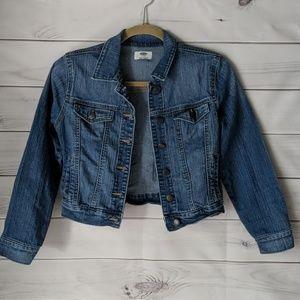 Old Navy girls denim jacket L 10-12